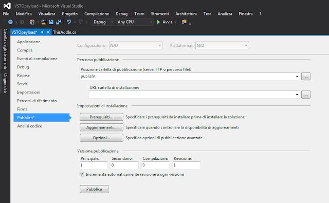 Visual Studio, Pubblica componente aggiuntivo