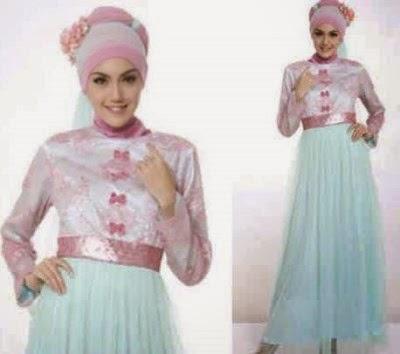 Baju muslim dress brokat muslimah yang trendy