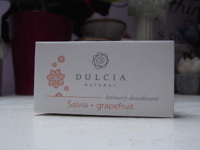 DULCIA Natural krémový dezodorant Šalvia-grapefruit 30 g