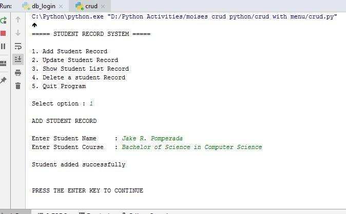 Crud Python Mysql