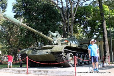 Tank Outside Reunification Palace Ho Chi Minh City Vietnam
