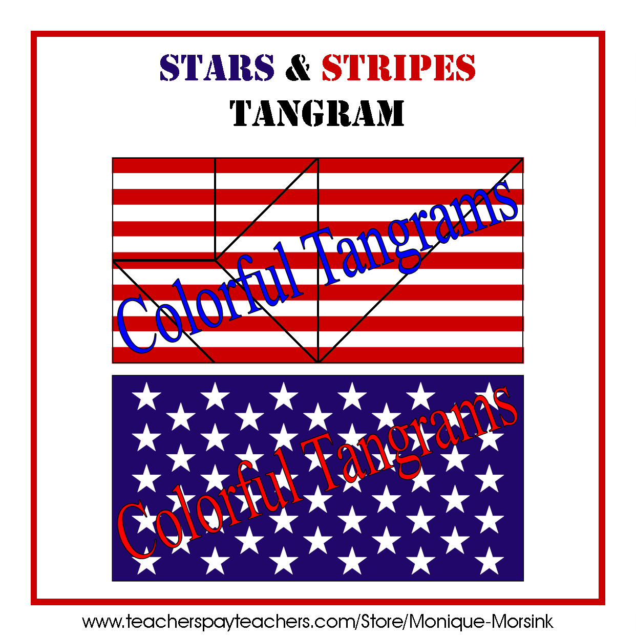 Colorful Tangrams President S Day