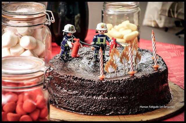 gateau anniversaire pompier