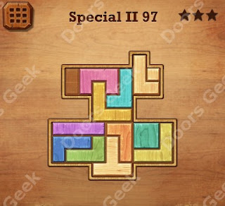 Cheats, Solutions, Walkthrough for Wood Block Puzzle Special II Level 97