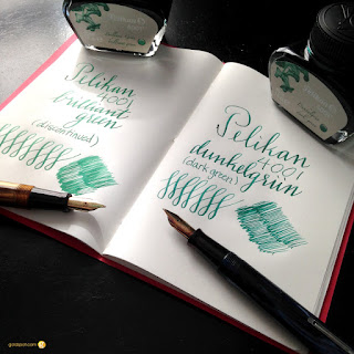 Introducing Pelikan 4001 Dunkelgrün Dark Green Ink