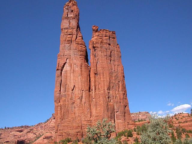 Spider Rock – Arizona   A torre de pedra do Canyon de Chelly