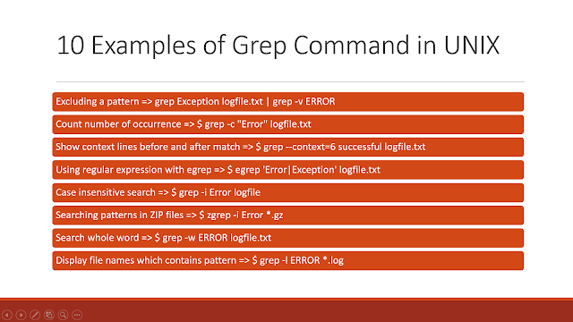10 ways to use GREP command in UNIX