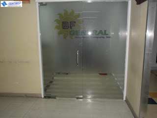Frosted Glass Stickers for BF General Insurance Company, Ayala, Makati