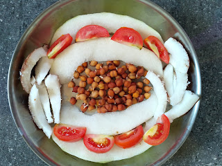 Ash gourd, Chickpea sprouts, Tomato, Coconut