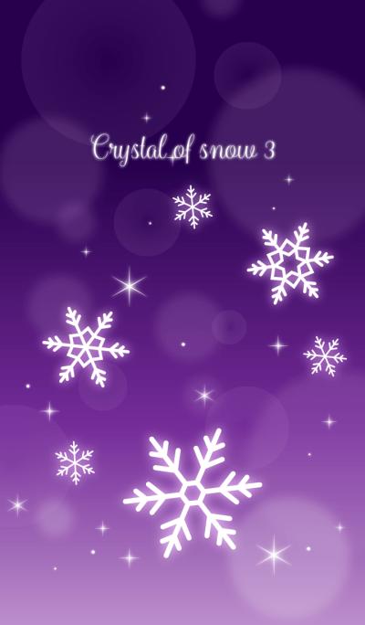 Crystal of snow3(purple)