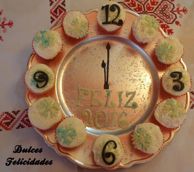 Reloj de cupcakes