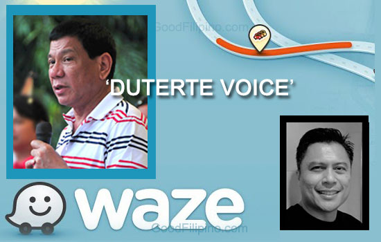Willy got shocked when he tried Duterte voice on Waze app