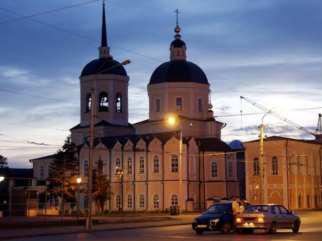 Ночной Томск. Площадь Ленина, Монастырь