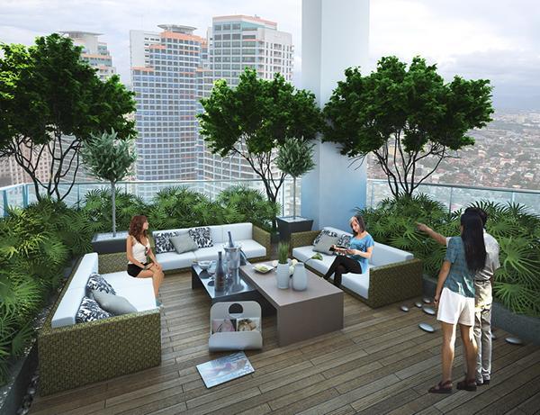 Vườn trên cao tầng 25A Five Star Garden