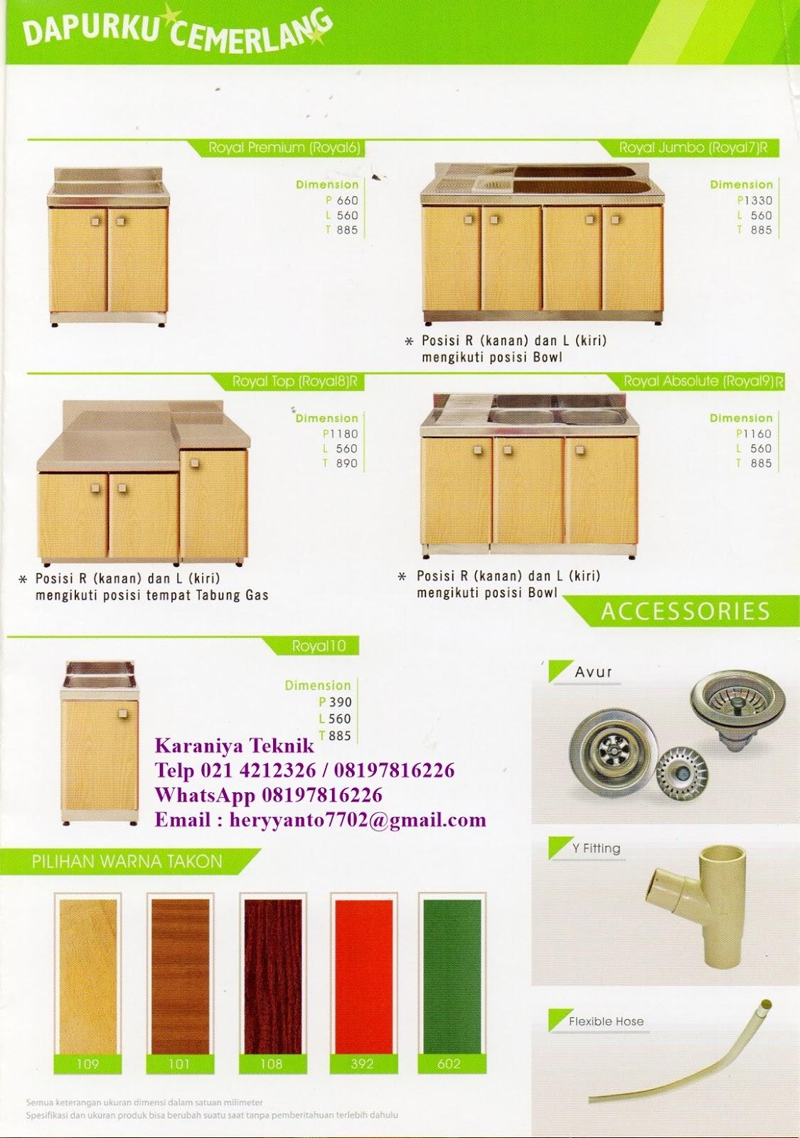 Kitchen Sink Royal Jual Discount Kitchen Set Royal 4