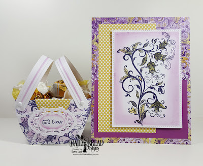 Our Daily Bread Designs Stamp Set: A Happy Hello, Our Daily Bread Designs Paper Collections: Plum Pizzazz, Whimsical Wildflowers, Our Daily Bread Designs Custom Dies: Bountiful Basket, Vintage Borders, Pierced Rectangles