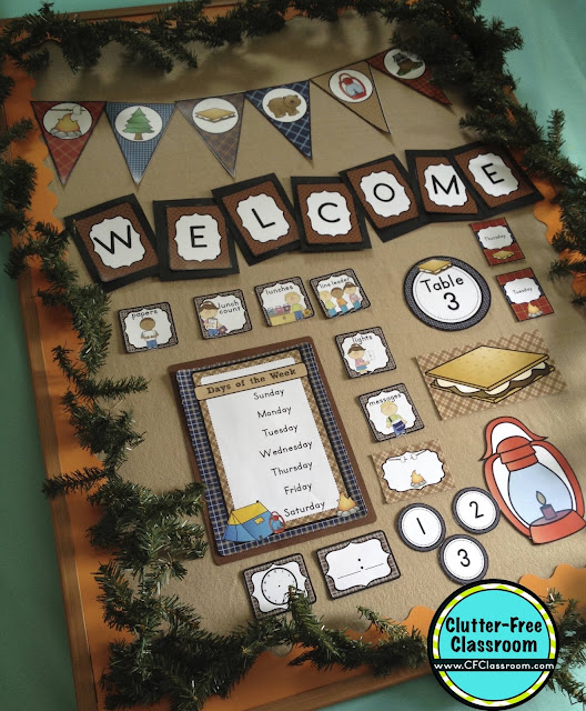 Classroom Decoration Games Free ~ Camping themed classroom ideas printable