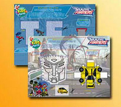 Jollibee party package - Transformers tray liners