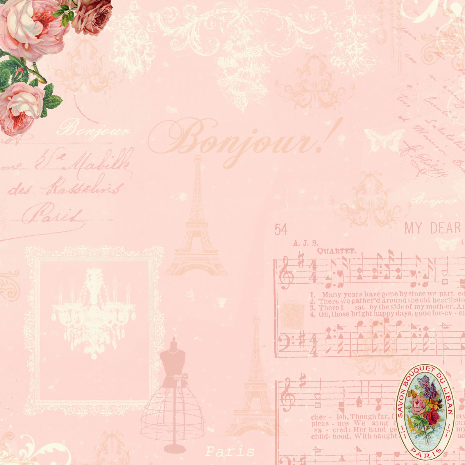 Stampin d 39 amour february 2013 - Scrapbook background free printables ...