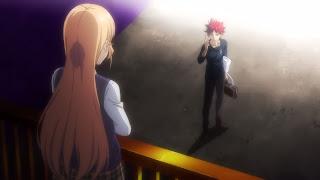 Souma Yukihira oraz patrząca na niego Erina Nakiri