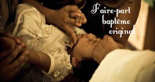 Texte faire part baptême original