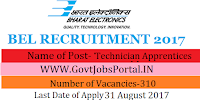 Bharat Heavy Electricals Limited Recruitment 2017– 310 Technician Apprentices