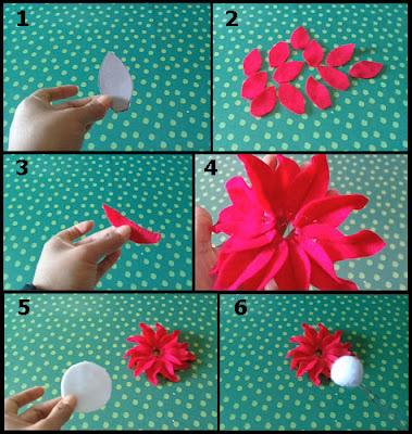 Tutorial Membuat Bunga Gerbera dari Kain Flanel 1