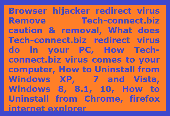 Browser hijacker redirect virus Tech-connect.biz