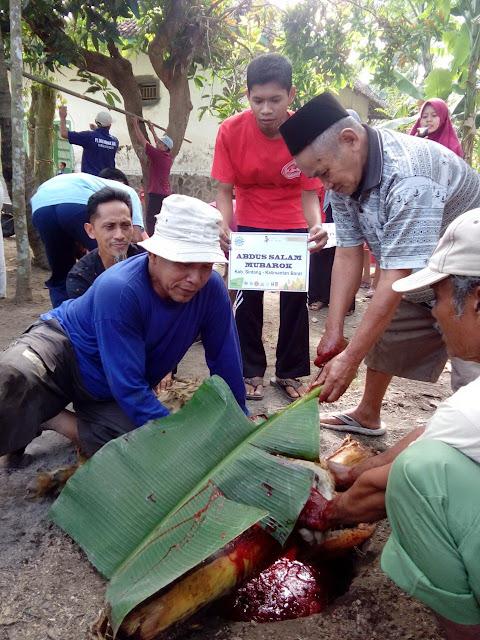Penyembelihan Hewan Qurban di Semboro