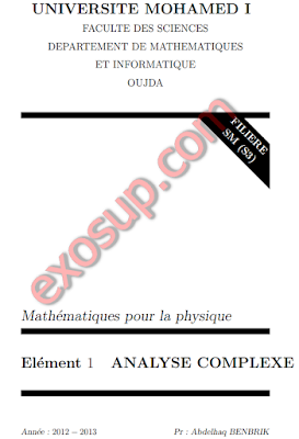 cours d'analyse comlplexe s3 fs oujda