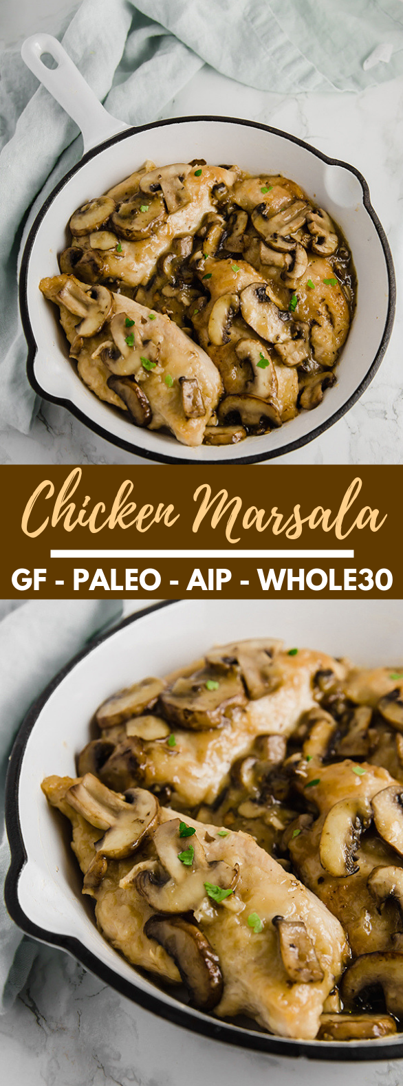 Chicken Marsala (Whole30, Paleo, AIP) #diet #healthy