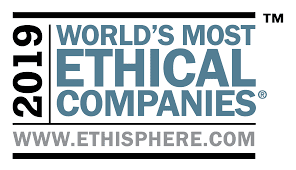 Canon received recognition as one of the 2019 World's Most Ethical Companies
