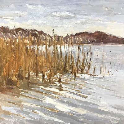 #166 'Frensham Great Pond' 12×12″