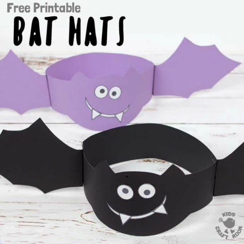 Bat hat craft - Halloween bat crafts for kids