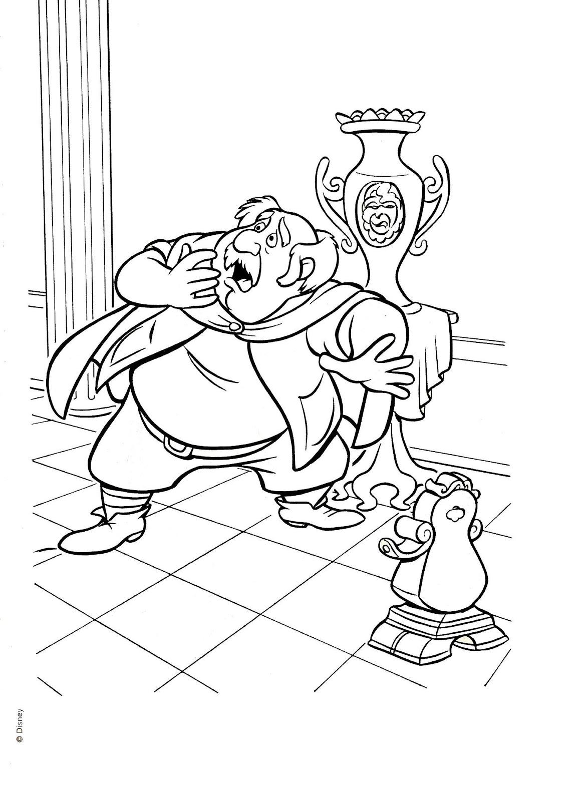 La Bella y la Bestia de Disney - Blog: Dibujos para colorear de la ...