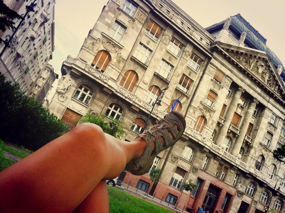 Budapeşte gezisinde bir parktayız!
