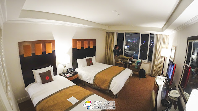 Ramada Plaza Jeju Ocean Front - 1 double bed and 1 single bed room view