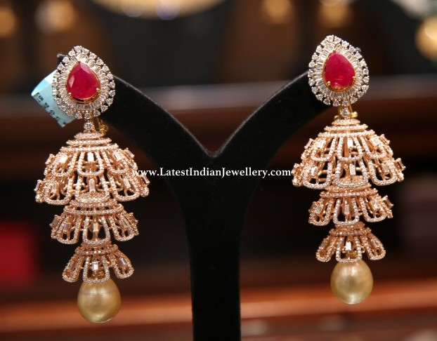 Diamond Jhumkas from Malabar