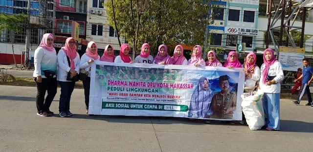 Begini Cara Dharma Wanita Dinas PU Makassar Galang Dana untuk Palu