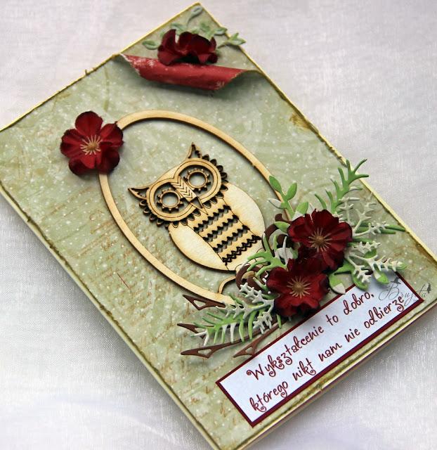 dzień edukacji narodowej, kartka z książką, kartka dla nauczyciela, koniec roku szkolnego, podziękowanie dla wychowawcy, kartka z sową, kartka z cytatem