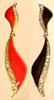 Slender Doubel Drop Clip on Earrings