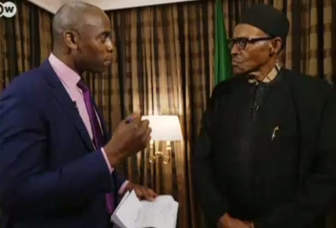 Image result for DW's Phil Gayle with buhari