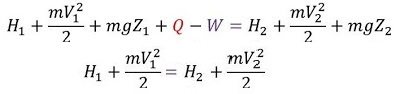 STEADY FLOW ENERGY EQUATION FOR NOZZLE AND DIFFUSER