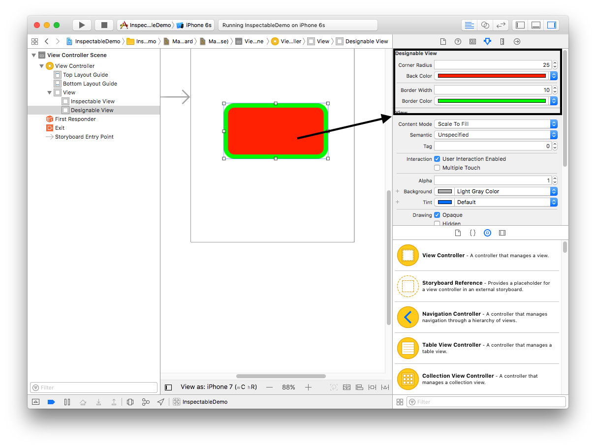 How to use IBDesignable in Swift 3 0 - iOSDevCenter