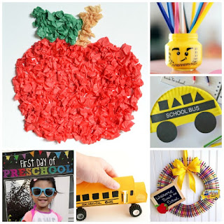 BACK-TO-SCHOOL! 25+ School themed crafts & activities for kids!  These are adorable! #backtoschool #backtoschoolcrafts #backtoschoolcraftsforpreschoolers #craftsforkids