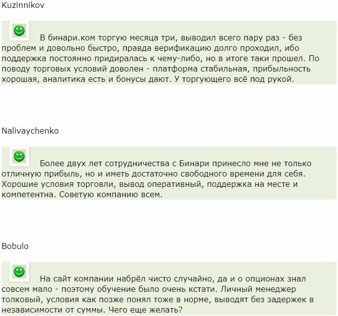 Отзыв от трейдера Kuzinnikov