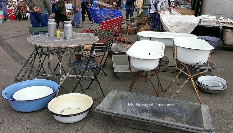 antique enamel wash tubs