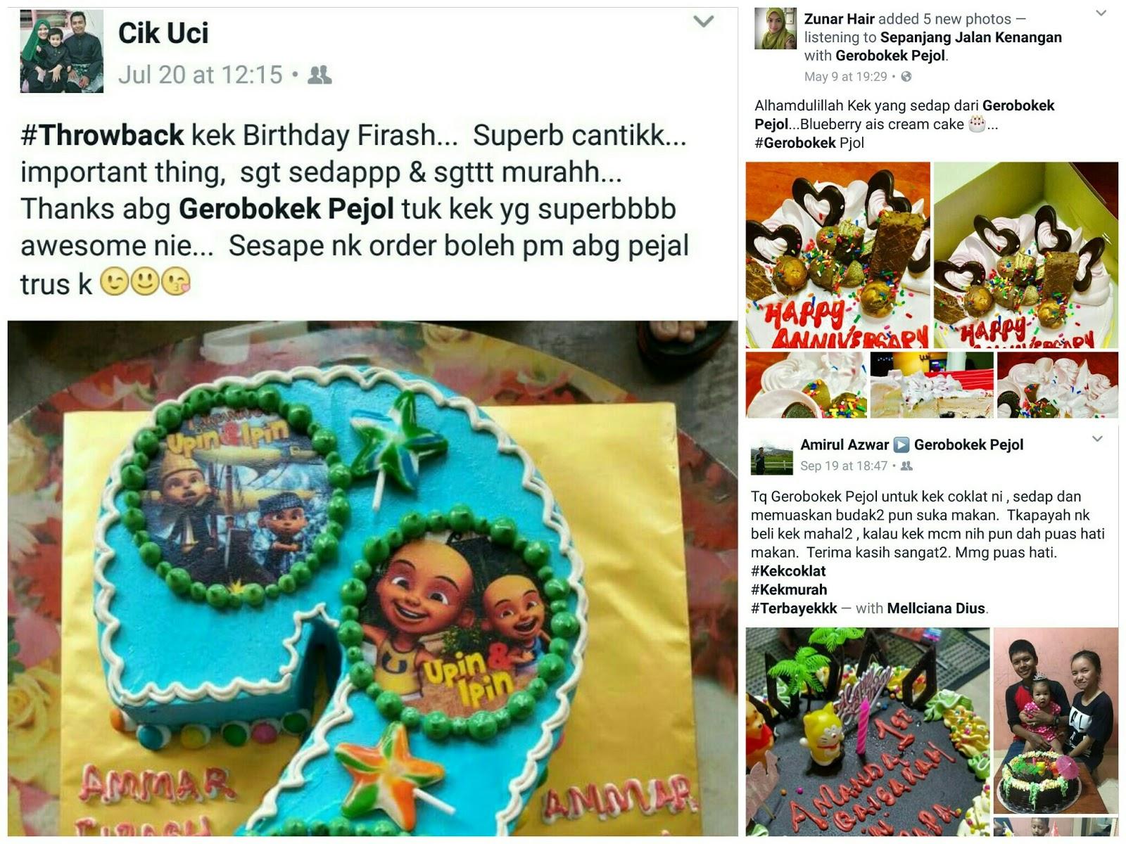 Kek Sedap dan Murah di Gerobok Kek Pejol, Selayang