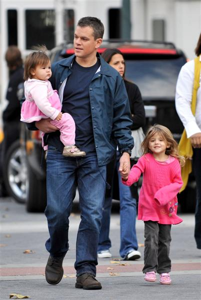 Matt Damon | Actor With Wife and Kids 2012 | Hollywood