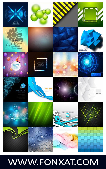 Download vector illustrations of various abstract background